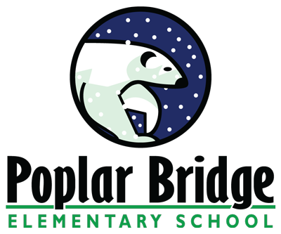 Poplar Bridge Elementary School Polar Bears logo