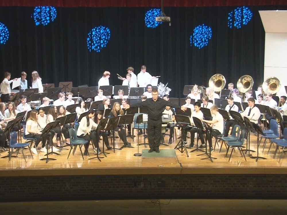 2019 OMS Christmas concert band performance