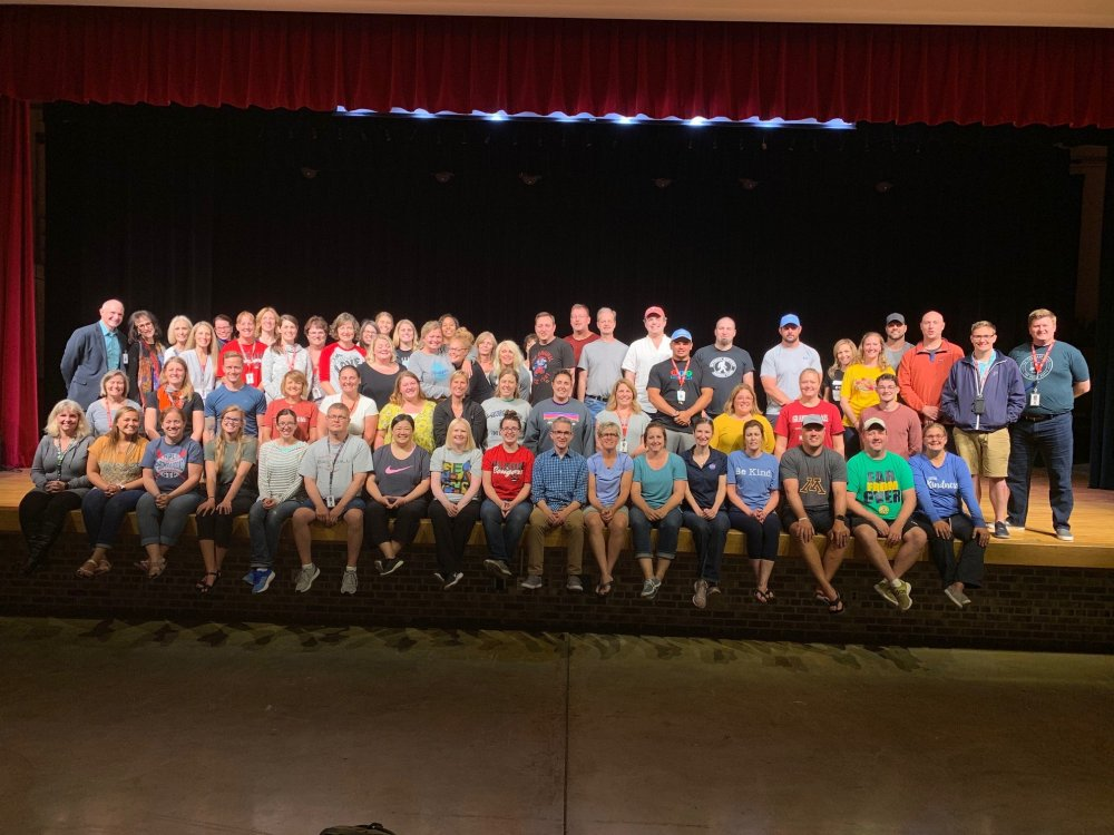Group photo of OMS staff for 2019-20