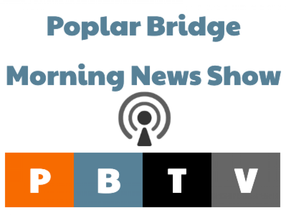 Poplar Bridge Morning News Show Logo