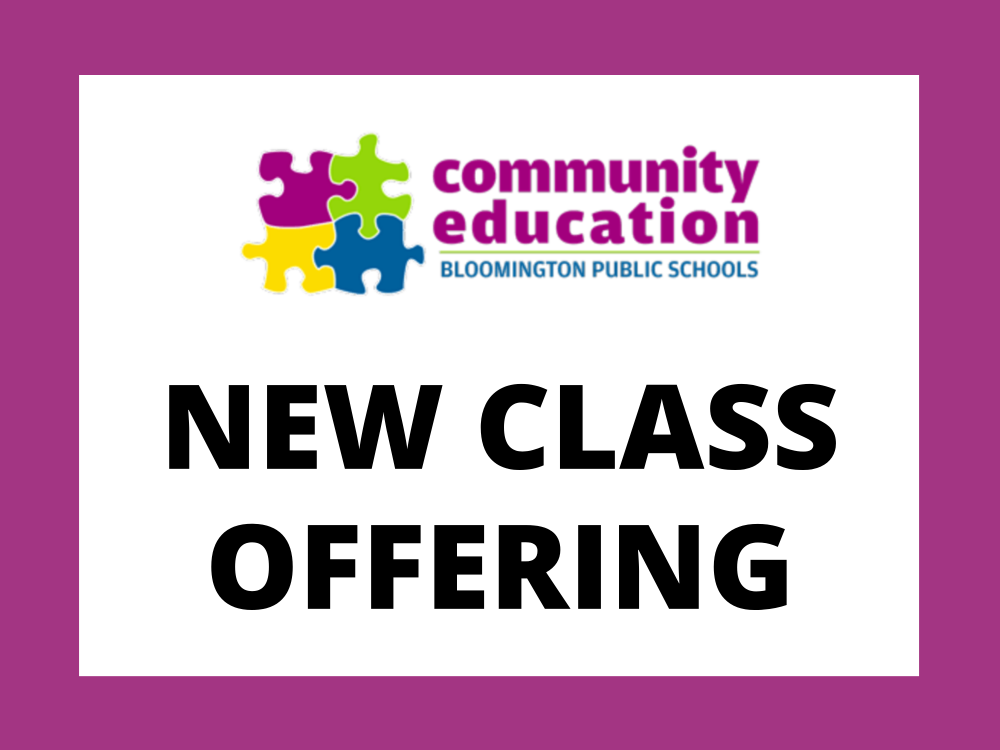 Community Education New Class Offering