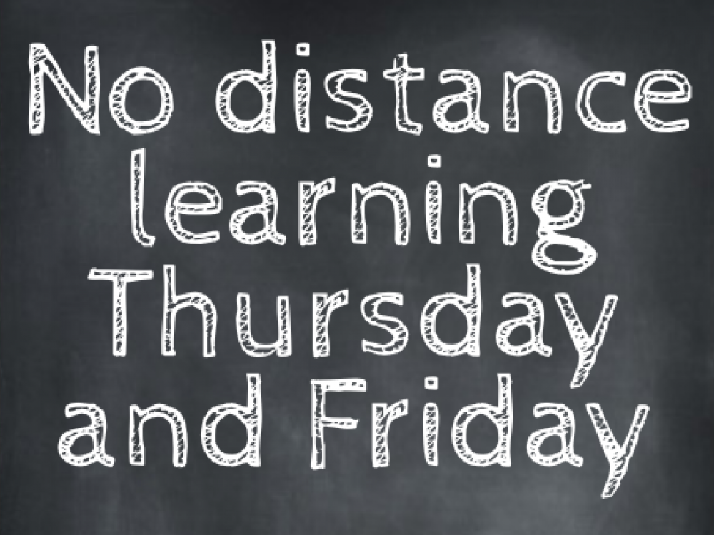 No distance learning