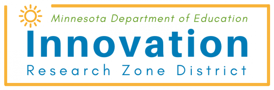 Logo: Minnesota Department of Education Innovation Research Zone District